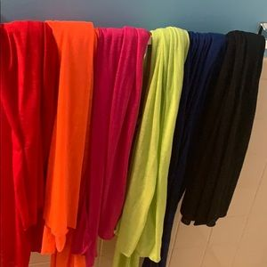 Brand new colorful scarves